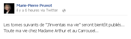 J'inventais ma vie - Marie-Pierre Pruvot