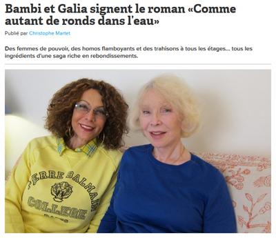 Marie-Pierre Pruvot (Bambi) et Galia Salimo, Comme autant de ronds dans l'eau, interview par yagg