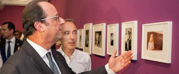Visite de François Hollande à Arles été 2016 - Marie-Pierre Pruvot (Bambi)