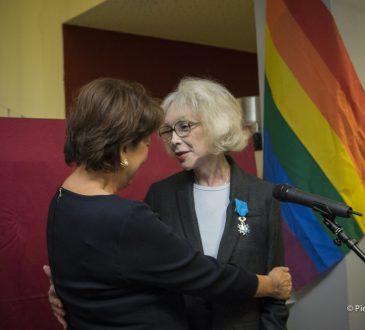 Marie-Pierre Pruvot (Bambi) et Roselyne Bachelot remise de médaille de Chevalier dans l'ordre national du mérite
